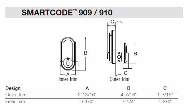 kwikset 909 series smartcode single cylinder smartkey