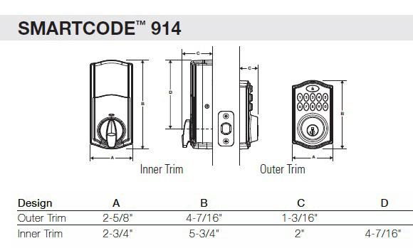kwikset 914 series smartcode single cylinder smartkey